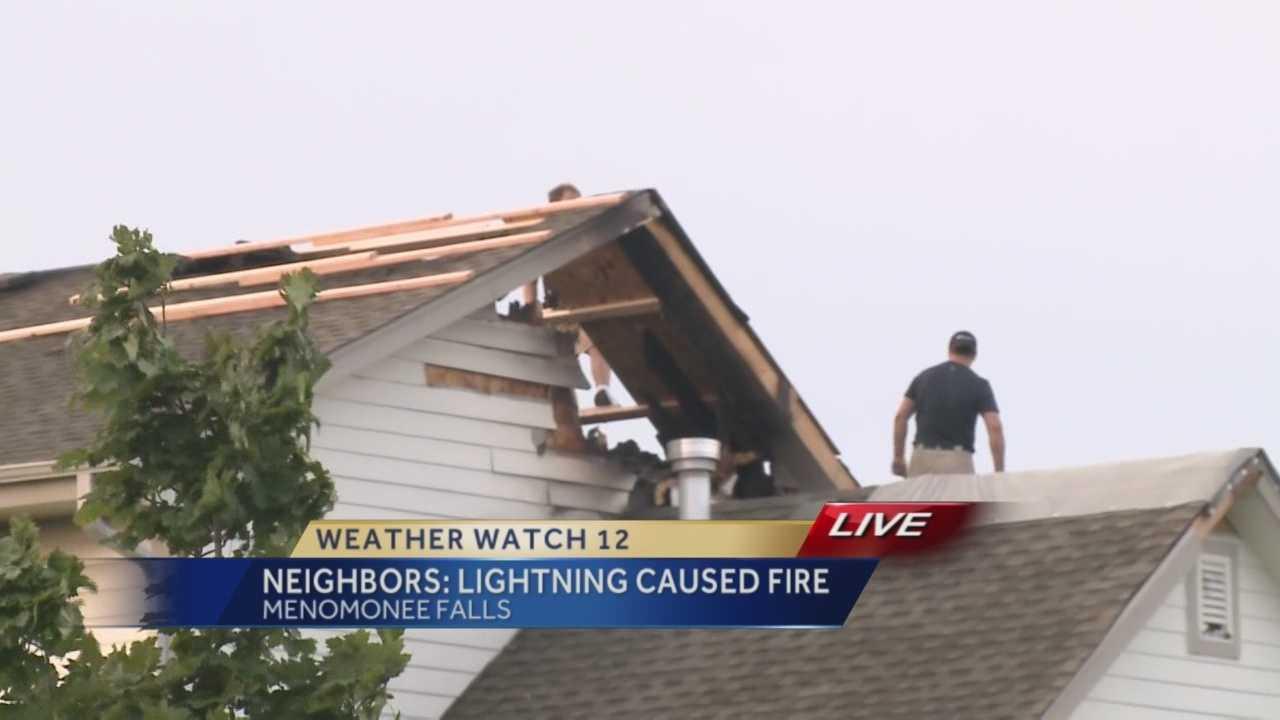 Lightning strike causes Menomonee Falls house fire