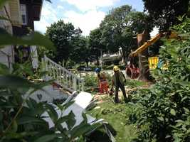 Cleanup continues Tuesday morning in the Washington Heights neighborhood.