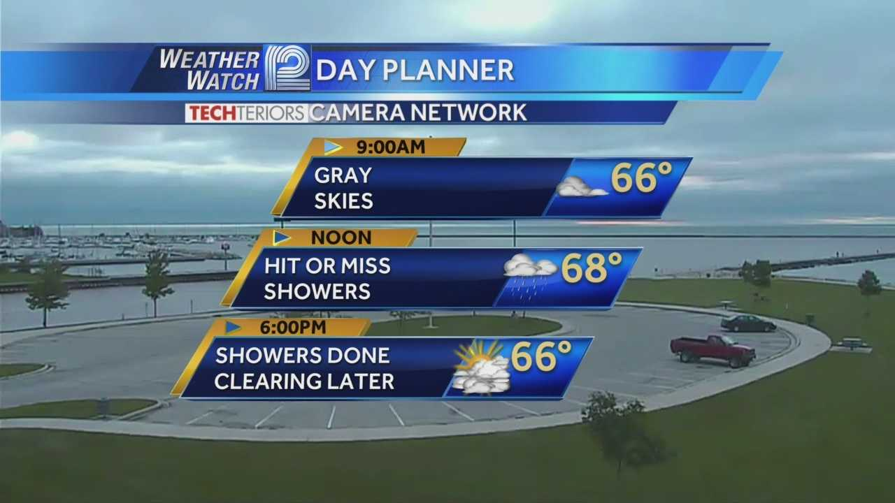 Clouds will hang around Wednesday, but shower chances finally end