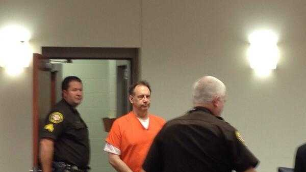 Zelich arrives in court