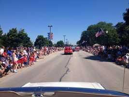 And they're off... Brookfield parade