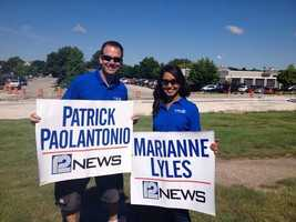 WISN 12 News This Morning's Patrick Paolantonio and Marianne Lyles are ready for the Brookfield parade!
