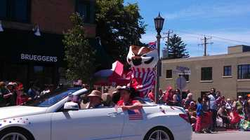 Bucky Badger in the Whitefish Bay Parade
