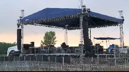 empty Rockesha stage