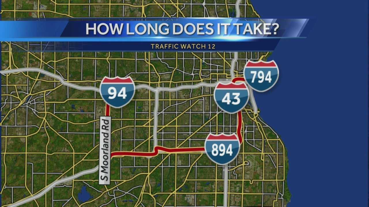 A 13-minute ride from the Marquette Interchange to Moorland normally takes 13 minutes. This morning, Ben Hutchison took the posted detour and it took 31 minutes.