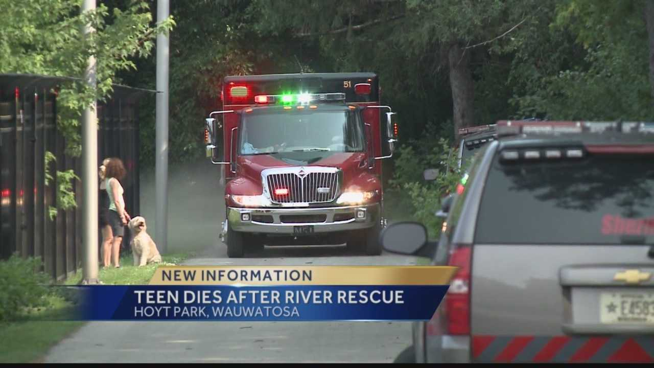 A 14-year-old boy who didn't surface while swimming in the Menomonee River in Wauwatosa has died.