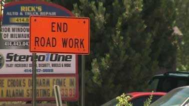 end road work