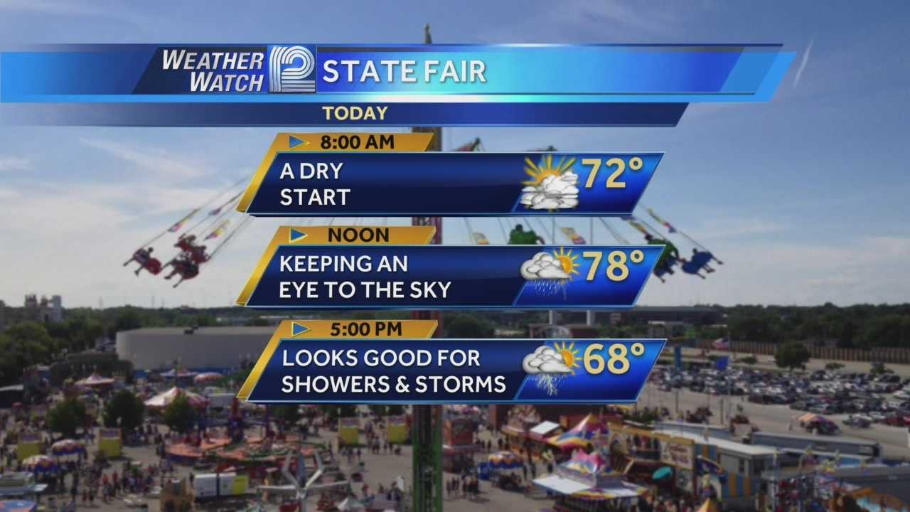 Umbrellas are likely needed for Monday evening