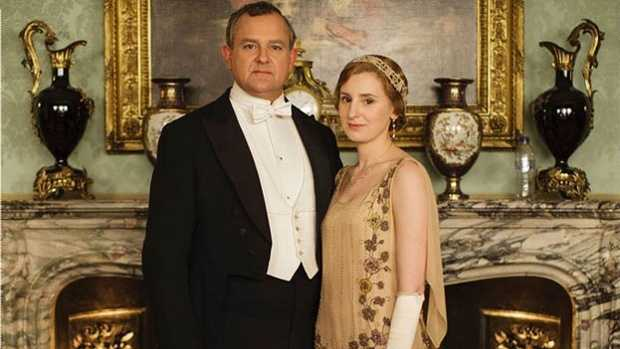The Earl of Grantham and Lady Edith were upstaged in this promotional photo.