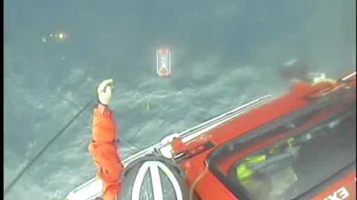 The U.S. Coast Guard rescued a kayaker attempting to cross Lake Michigan Monday.
