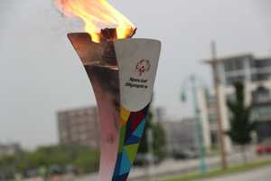 On June 15th the Special Olympics flame passed through Milwaukee on the way to LA for World Summer Games in July.