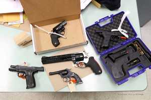Police also seized weapons.