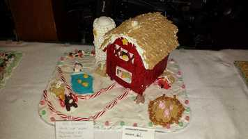 The annual gingerbread house competetition is underway at the Waelderhaus in Kohler, WI.