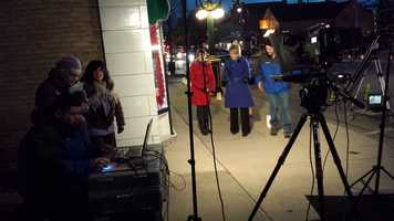 The streets of historic Cedarburg was the setting for much of Kathy & Joyce's portion of the show.