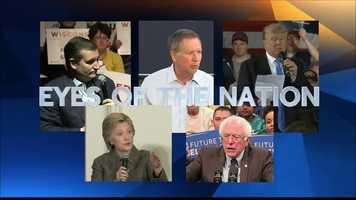 All five presidential candidates made appearances in southern Wisconsin on Tuesday.
