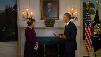 Kathy Mykleby has a five-minute interview with President Obama.