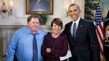 WISN 12 NEWS' Bob Palmer, Kathy Mykleby and President Obama