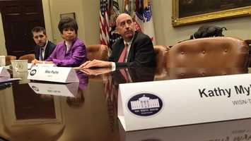 """In briefing with top brass of the White House."" - Kathy"