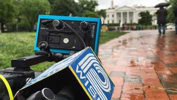 Outside the White House on Sunday setting up some preview shots.