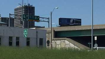 A billboard in Kansas City advertises the launch of the KC Streetcar.