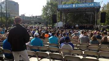 Kansas City held a Friday morning ceremony to mark the public debut of KC Streetcar.