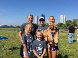 Mark Baden and family enjoying the day.