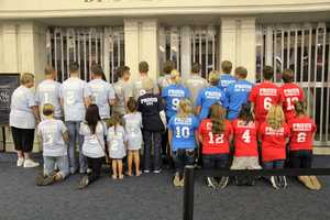 If you are going to go, go all out! This family had custom shirts made denoting their proud relationship to their vet.
