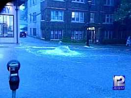 The hardest hit were the North shore areas of Shorewood, Whitefish Bay, Glendale, and Northeastern Milwaukee with water reaching five feet in some areas.