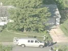 New Albany police investigate after a woman's body is found in the home of a registered sex offender Thursday.