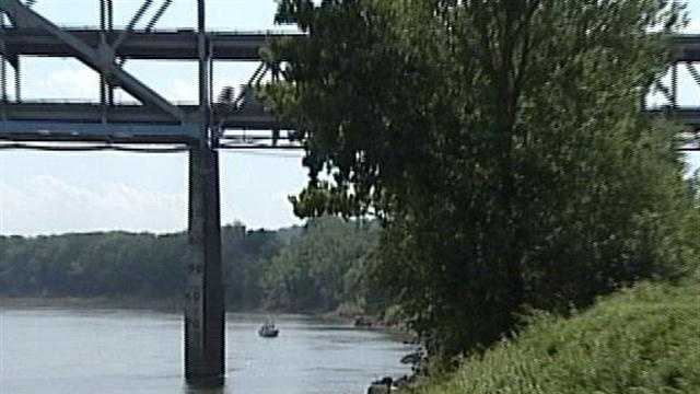 Ohio River search from bank