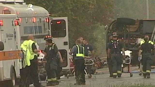 Students treated, released from hospitals after bus crash