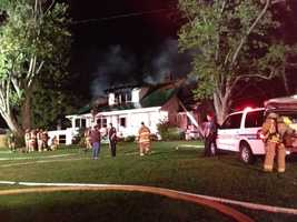 No one was injured when a house caught fire at the intersection of Routt Rd. and Thurman Rd.
