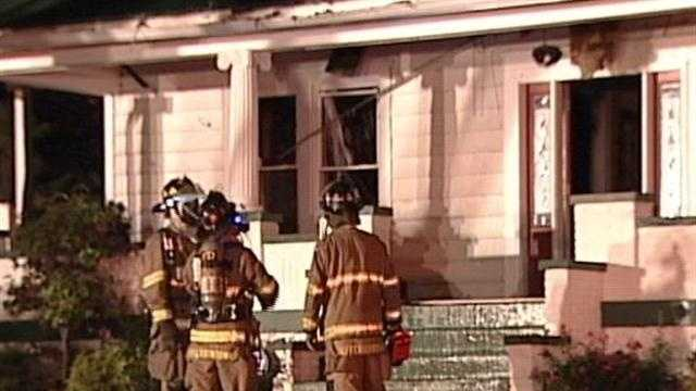 House catches fire