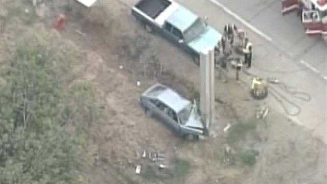 Raw aerials: 1 killed in I-264 crash