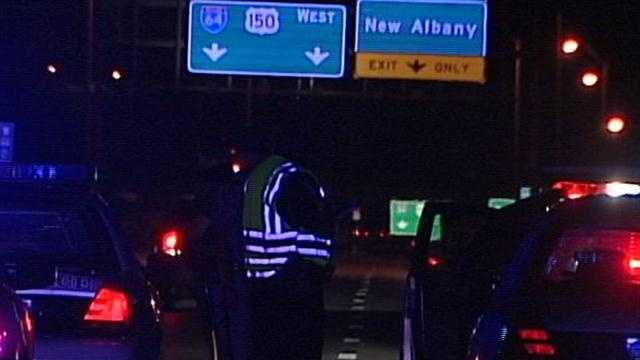 Louisville Metro Police have an urgent warning for drivers after a woman was killed and a man injured on the Sherman Minton Bridge Thursday night.