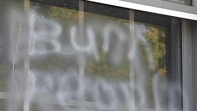 Satanic symbols, hate messages sprayed onto Bardstown church
