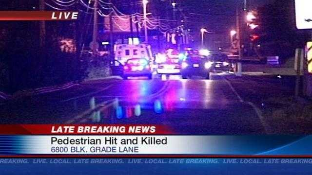 Pedestrian struck and killed