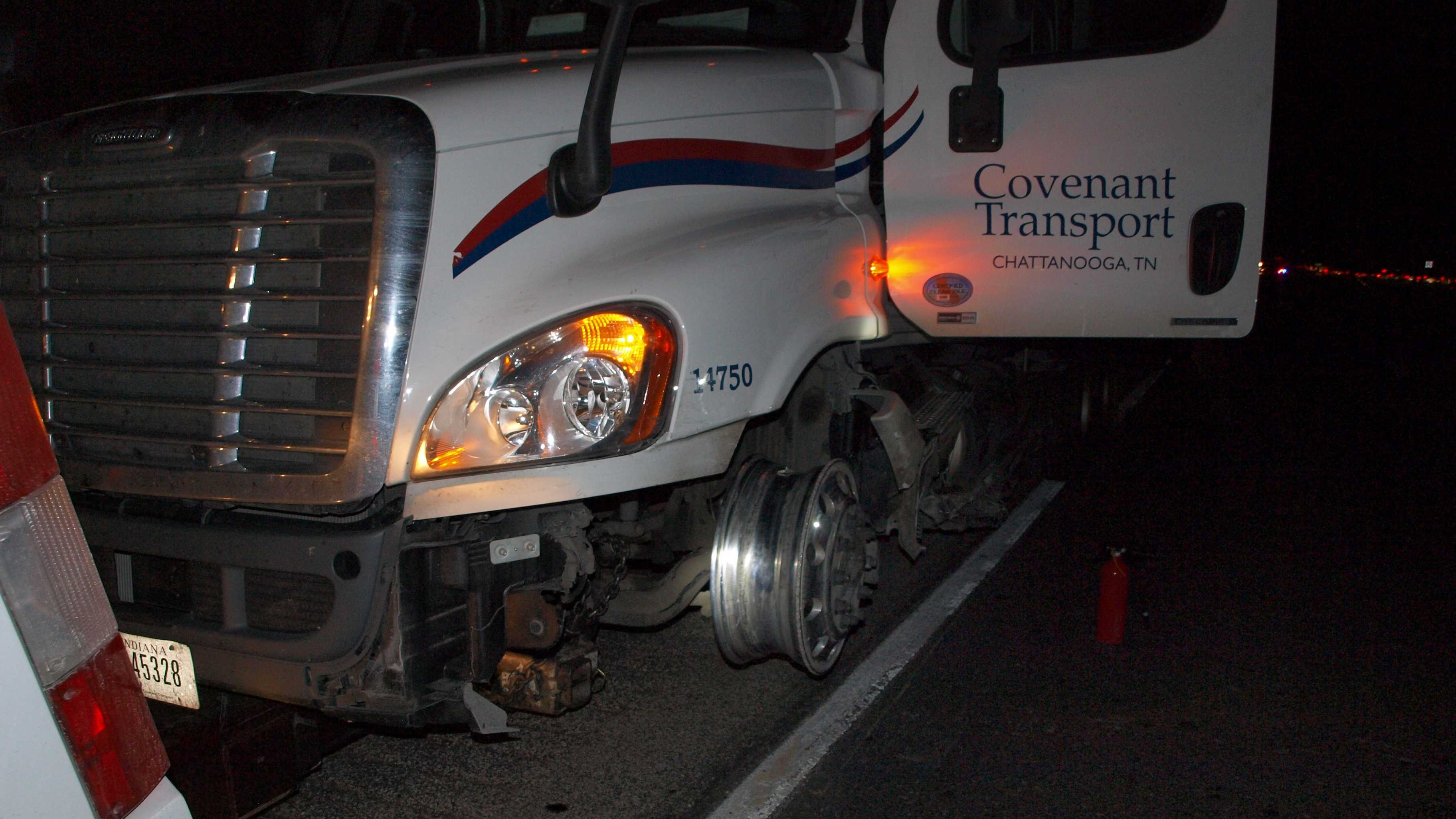 Several injured when semi-truck collides with van