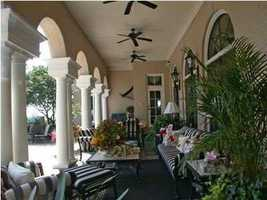 Stylish patio archways and design.