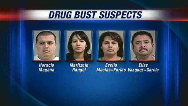 4 arrested after police seize drugs, cash