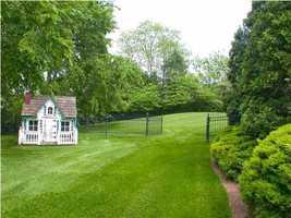 Beautifully groomed backyard.