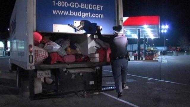 7 children, 18 cats discovered inside box truck