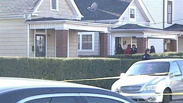 Louisville Metro Police investigate a shooting in the 2300 block of Bolling Avenue.