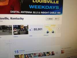 Thanks for helping us pass the 55,000 fan mark! Here's a behind the scenes tour of WLKY!