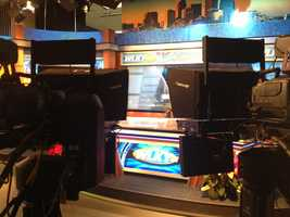 Behind the cameras view of the main set