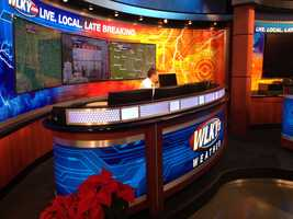 The weather desk