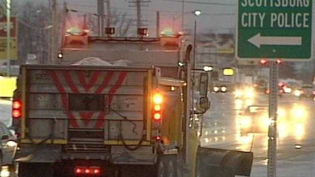 Wednesday's snowfall keeps road crews busy