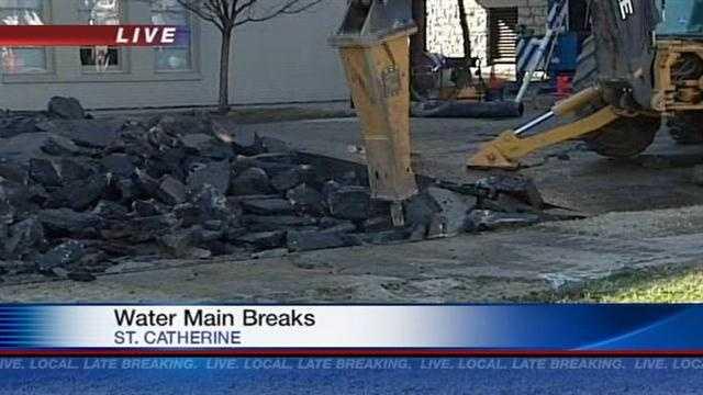 Water main breaks affect traffic