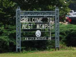 4. West Memphis, Arkansas