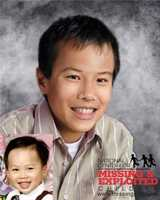 John has been missing since April 18, 2002. John's larger photo is a composite showing what he could potentially look like at 13 years old.